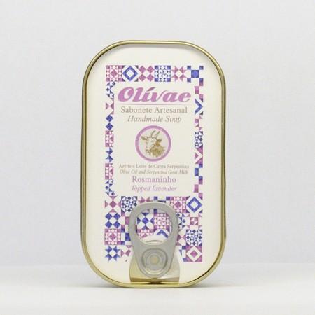 Sabonete Artesanal com Rosmaninho Caixa Conserva 85g