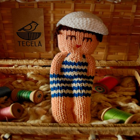 Bonecos em Tricô | O Banhista